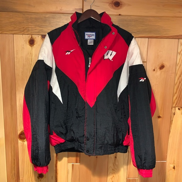 Reebok Other - Vintage 90's Reebok WISCONSIN BADGERS Jacket L